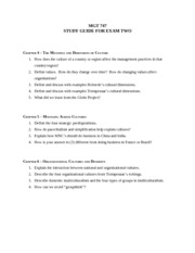 MGT 747 Study Guide - Exam Two