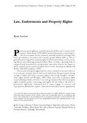Law, Endowments and Property Rights