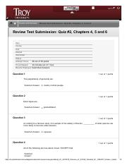 Review Quiz Chapters 4, 5 and 6 – .