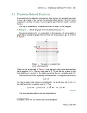 Section 1: Piecewise-Defined Functions