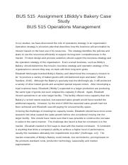 operations management case study on bakery