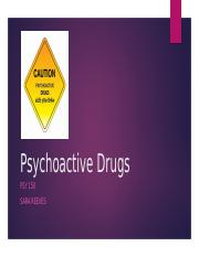 Psychoactive Drugs psy150