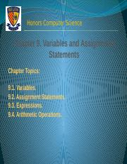 Chapter 9A Variables and Assignment (2)