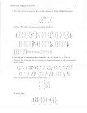 MATH 2120 Fall 2014 Quiz 3 Solutions