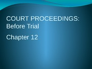Court Proceedings Lecture Slide