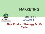 Product Strategy  Life Cycle