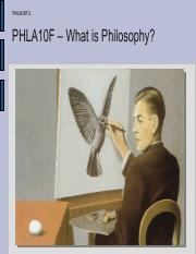 PHILOSOPHY POWERPOINT ONE
