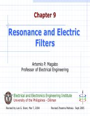 Ch08 Resonance and Electric Filters