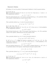 Homework 4 Solution on Differential Equations Spring 2015