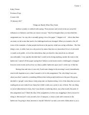 Breaking a Social Rule Essay ;)