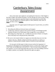Canterbury Tales Essay Assignment (1).docx
