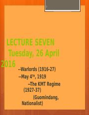 lec7, KMT, Warlords, May 4th (1)