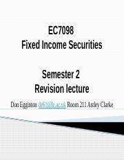 EC7098 Fixed Income Securities revision lecture 2017 (1)