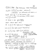MTHE 326 Lecture 5 Notes