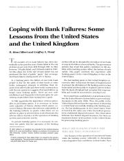 Coping with bank failures some lessons from the United States and the United Kingdom