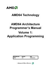 AMD64 Architecture Programmer's Manual - Volume 1 - Application Programming (24592, r3.21, Oct-2013)