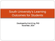 South University's Goals for our students