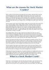 What are the reasons for Stock Market Crashes