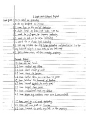 Simple Past and Present Perfect Notes