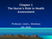 Chapter 1 of Health assessment