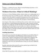 thinking critically itw 1 7 rvs