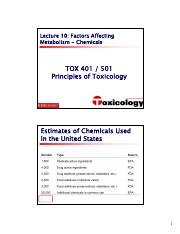 401-501 - 10 - Factors Affecting Metabolism - Chemical