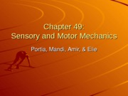 Sensory and Motor Mechanics