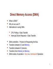 Lecture 14 - Direct Memory Access (DMA).ppt