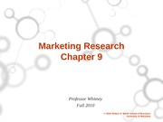 ch. 9 Marketing Research student version