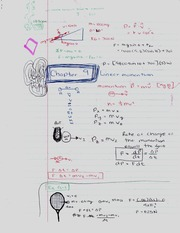 Chapter 9 Notes - Linear Momentum