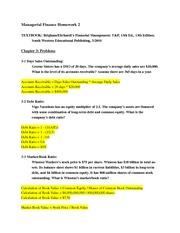 fi 515 week 6 homework View notes - fin-516 - week 6 - hw answer key from finance 516 at devry university, keller graduate school of management fin-516 week 6 chapter 21 homework answer key no 1 - acquisition.