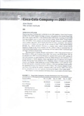 xacc 280 final project pepsi cola and coca cola Xacc 280 week 9 final project financial analysis review the annual reports for pepsico, inc and the coca-cola company in appendixes a & b of financial accounting select either pepsico, inc or the coca-cola company in your estimation.