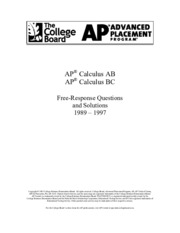 Ap calculus course hero 206 pages ap calculus ab free response 1989 1997 sciox Gallery