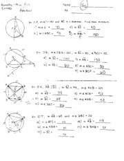 circle review packet answer key