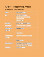 ARB 111 Beginning Arabic