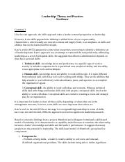 Leadership: Thoery and Practices Chapters 3 and 4 Notes.docx