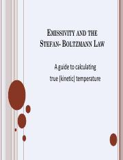 Emissivityand the Stephan Boltzman Law_True Temp_Tutorial
