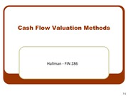 7 - Cash Flow Valuation Methods