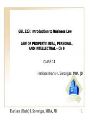 PowerPoint Ch 9 Property Law