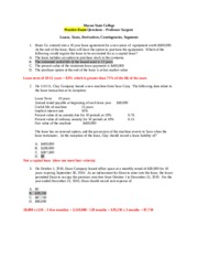 acct3103 leases taxes derivatives segments contingencies practice exam KEY.docx
