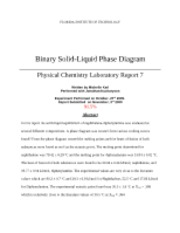 7 - Binary Solid-Liquid Phase Diagram