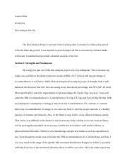 hun diet analysis paper diet analysis paper  6 pages diet analysis part iii