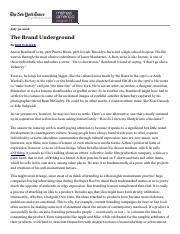 The Brand Underground - New York Times.pdf