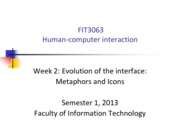 FIT3063-4063 S12013 Lecture 2 - Evolution of interfaces