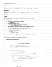 10-15  Class Notes CS 107