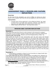 Mission & Culture Workbook