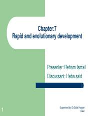 IS612_LECTURE NOTES_Chapter 7 - Rapid and evolutionary development
