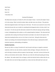 Psych 141 Emotional Developement Case Study