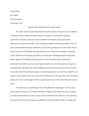 Toward a More Responsible Two-Party System reaction paper.docx