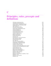 PRINICIPLES, RULES, PRECEPTS AND DEFINITIONS